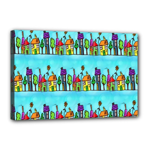 Colourful Street A Completely Seamless Tile Able Design Canvas 18  x 12
