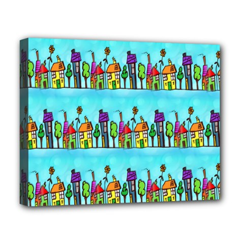 Colourful Street A Completely Seamless Tile Able Design Deluxe Canvas 20  x 16