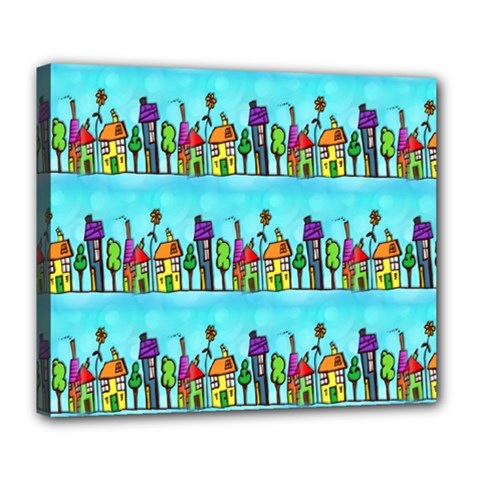 Colourful Street A Completely Seamless Tile Able Design Deluxe Canvas 24  X 20