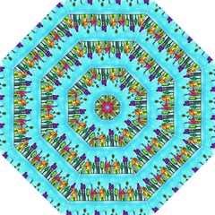 Colourful Street A Completely Seamless Tile Able Design Hook Handle Umbrellas (small)