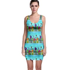 Colourful Street A Completely Seamless Tile Able Design Sleeveless Bodycon Dress