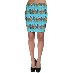 Colourful Street A Completely Seamless Tile Able Design Bodycon Skirt