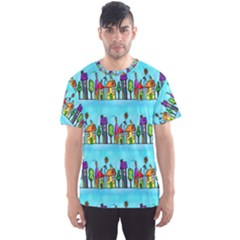Colourful Street A Completely Seamless Tile Able Design Men s Sport Mesh Tee