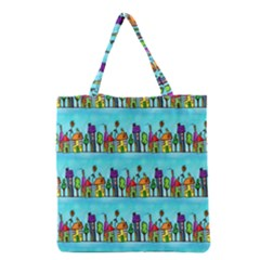 Colourful Street A Completely Seamless Tile Able Design Grocery Tote Bag