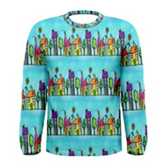 Colourful Street A Completely Seamless Tile Able Design Men s Long Sleeve Tee