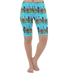 Colourful Street A Completely Seamless Tile Able Design Cropped Leggings