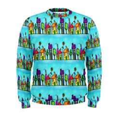 Colourful Street A Completely Seamless Tile Able Design Men s Sweatshirt