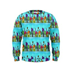 Colourful Street A Completely Seamless Tile Able Design Kids  Sweatshirt
