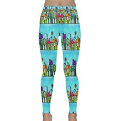 Colourful Street A Completely Seamless Tile Able Design Classic Yoga Leggings