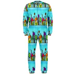 Colourful Street A Completely Seamless Tile Able Design Onepiece Jumpsuit (men)