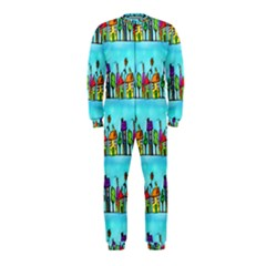 Colourful Street A Completely Seamless Tile Able Design Onepiece Jumpsuit (kids)