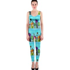 Colourful Street A Completely Seamless Tile Able Design OnePiece Catsuit