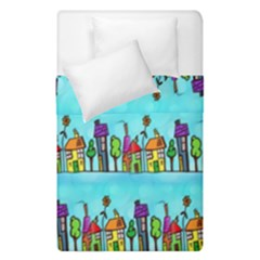 Colourful Street A Completely Seamless Tile Able Design Duvet Cover Double Side (single Size)