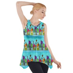 Colourful Street A Completely Seamless Tile Able Design Side Drop Tank Tunic