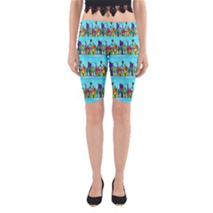 Colourful Street A Completely Seamless Tile Able Design Yoga Cropped Leggings