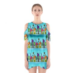 Colourful Street A Completely Seamless Tile Able Design Shoulder Cutout One Piece