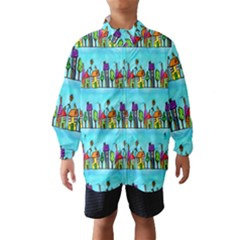 Colourful Street A Completely Seamless Tile Able Design Wind Breaker (Kids)