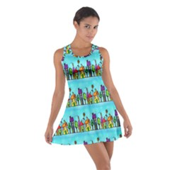 Colourful Street A Completely Seamless Tile Able Design Cotton Racerback Dress