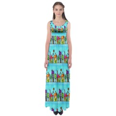 Colourful Street A Completely Seamless Tile Able Design Empire Waist Maxi Dress