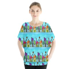 Colourful Street A Completely Seamless Tile Able Design Blouse