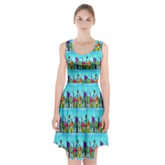 Colourful Street A Completely Seamless Tile Able Design Racerback Midi Dress