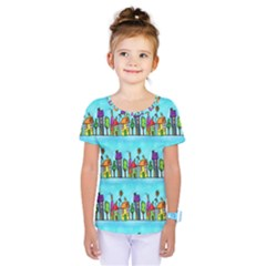 Colourful Street A Completely Seamless Tile Able Design Kids  One Piece Tee