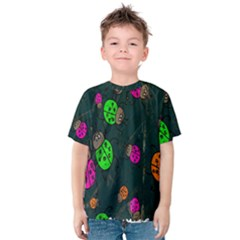 Cartoon Grunge Beetle Wallpaper Background Kids  Cotton Tee