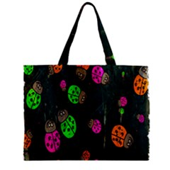 Cartoon Grunge Beetle Wallpaper Background Zipper Mini Tote Bag