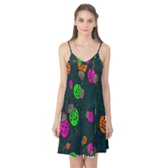 Cartoon Grunge Beetle Wallpaper Background Camis Nightgown