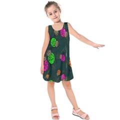 Cartoon Grunge Beetle Wallpaper Background Kids  Sleeveless Dress
