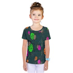 Cartoon Grunge Beetle Wallpaper Background Kids  One Piece Tee