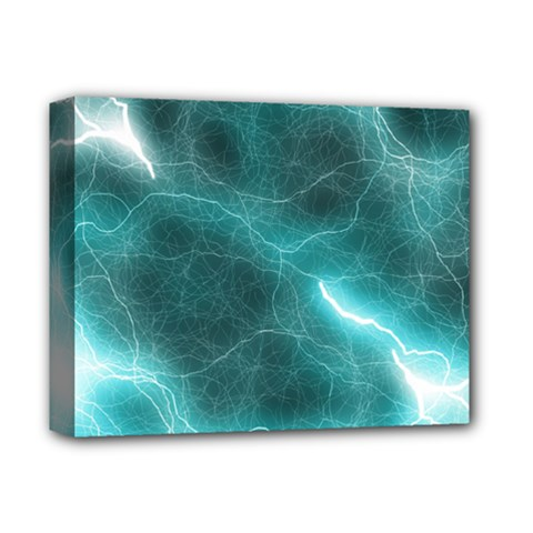 Light Web Colorful Web Of Crazy Lightening Deluxe Canvas 14  x 11
