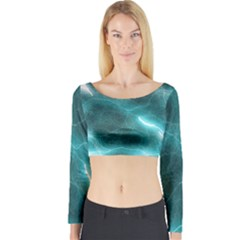 Light Web Colorful Web Of Crazy Lightening Long Sleeve Crop Top