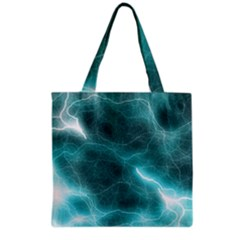 Light Web Colorful Web Of Crazy Lightening Grocery Tote Bag