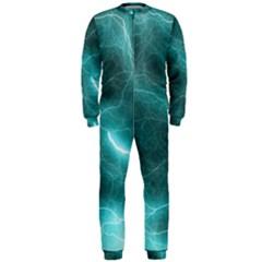 Light Web Colorful Web Of Crazy Lightening OnePiece Jumpsuit (Men)