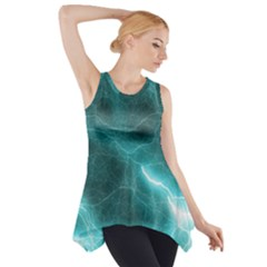 Light Web Colorful Web Of Crazy Lightening Side Drop Tank Tunic