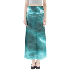 Light Web Colorful Web Of Crazy Lightening Maxi Skirts