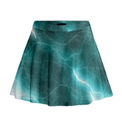 Light Web Colorful Web Of Crazy Lightening Mini Flare Skirt