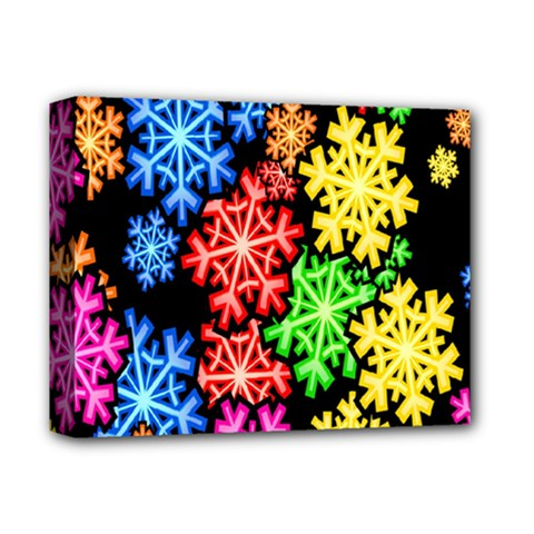 Colourful Snowflake Wallpaper Pattern Deluxe Canvas 14  x 11
