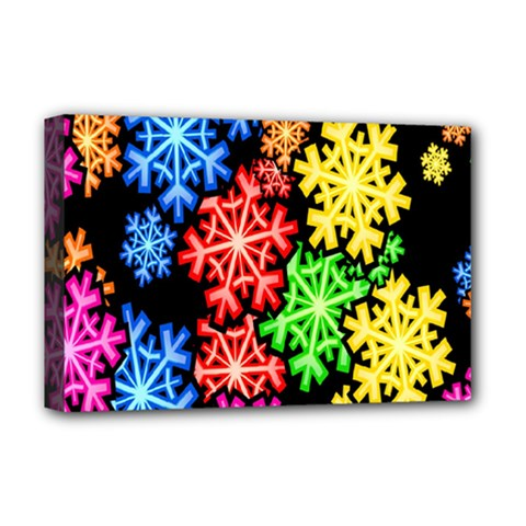 Colourful Snowflake Wallpaper Pattern Deluxe Canvas 18  X 12