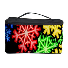 Colourful Snowflake Wallpaper Pattern Cosmetic Storage Case