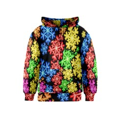 Colourful Snowflake Wallpaper Pattern Kids  Zipper Hoodie
