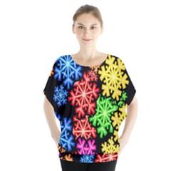 Colourful Snowflake Wallpaper Pattern Blouse