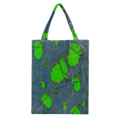 Cartoon Grunge Frog Wallpaper Background Classic Tote Bag