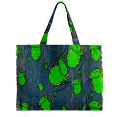 Cartoon Grunge Frog Wallpaper Background Zipper Mini Tote Bag