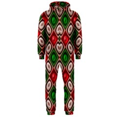 Gem Texture A Completely Seamless Tile Able Background Design Hooded Jumpsuit (men)