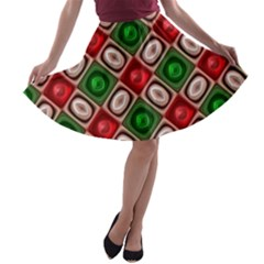 Gem Texture A Completely Seamless Tile Able Background Design A Line Skater Skirt