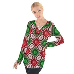 Gem Texture A Completely Seamless Tile Able Background Design Women s Tie Up Tee