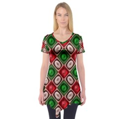 Gem Texture A Completely Seamless Tile Able Background Design Short Sleeve Tunic