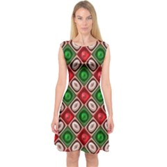 Gem Texture A Completely Seamless Tile Able Background Design Capsleeve Midi Dress